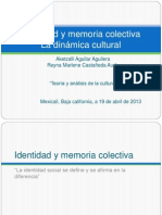 Identidad y Memoria Colectiva1
