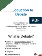 Debate Intro 1