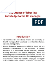Importance of Labor Law Knowledge to the HR