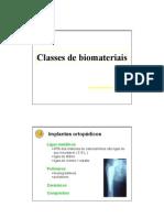 Classes de Biomateriais