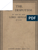 Lord HEWART of Bury - The New Despotism (1929)