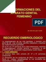 Malformaciones Del Aparato Genital Femenino