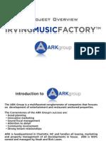Irving Music Factory presentation