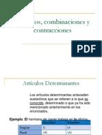Artículos, combinaciones y contracciones