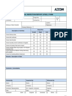 Material Inspection Report (Steel) Form