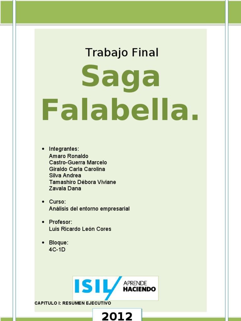 Trabajo final saga falabella analisis for Saga falabella catalogo