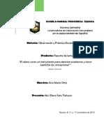 Reporte de Lectura_El Diario Como Instrumento Para Detectar Problemas