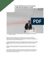 03-05-2013 Diario Cambio - Puebla Tierra de Oportunidades Para Las Inversiones Subraya Moreno Valle Ante Proveedores de Audi