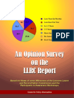 An Opinion Survey on the LLRC Report (English)