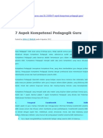 7 aspek pedagogis