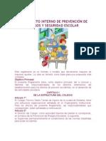 REGLAMENTO INTERNO DE PREVENCIÓN DE RIESGOS Y SEGURIDAD ESCOLAR