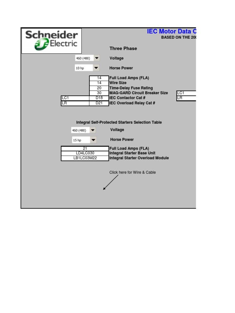i Ec Motor Data Calculator   Fuse (Electrical)   Electricity