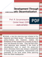 Rural Development Through Democratic Decentralization - 2