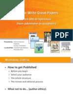 Elsevier UPM Workshop 2012