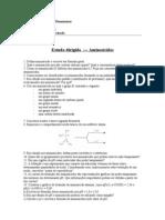 Aminoácidos- Estudo dirigido