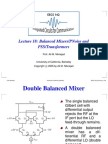 Balanced Mixers/PNoise and PSS/Transformers