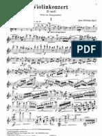Sibelius, Jean - Concierto para violín (op. 47 solista)