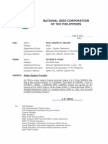 National Grid Corp of the Philippines Memo part 1