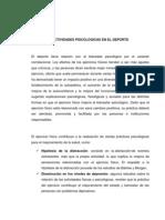 ACTIVIDADES PSICOLÓGICAS EN EL DEPORTE