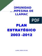 PLAN ESTRATÉGICO 2003-2012 COMUNIDAD LLAMAC