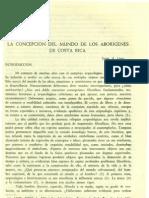 Lines. Jorge La Concepcion Del Mundo de Los Aborigenes de Costa Rica