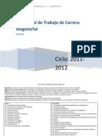 Plan Anual de Trabajo Para Carrera Magisterial
