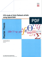 CFD Study of Thick Flatback Airfoils Using OpenFOAM