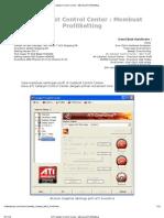 ATI Catalyst Control Center _ Membuat ProfilSetting graficc cart