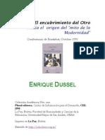 Dussel Enrique 1492 El Encubrimiento Del Otro Hacia El Origen Del Mito de La Modernidad
