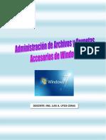 ADMINISTRACIÓN DE ARCHIVOS Y CARPETAS