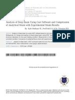 3 Analysis of Deep Beam Using Cast Software
