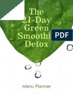 Green Smoothie Detox 7-Day Prep Menu