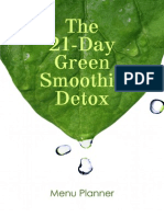 Green Smoothie Detox 7-Day Prep Menu