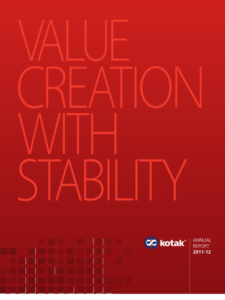 Kotak AR 2012 | Audit | Financial Statement