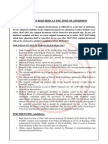 Documents Required at the Time of Admission 2013