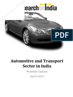 Automotive and Transport Sector in India April 2013