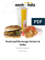Food and Beverage Sector in India Monthly Update April 2013