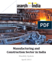 Manufacturing and Construction Sector in India Monthly Update April 2013