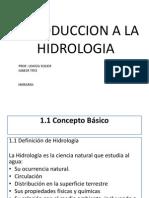 ESTUDIOS HIDROLOGICOS EN PROYECTOS DE INGENIER+ìA
