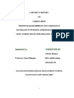Project Report on Green HRM