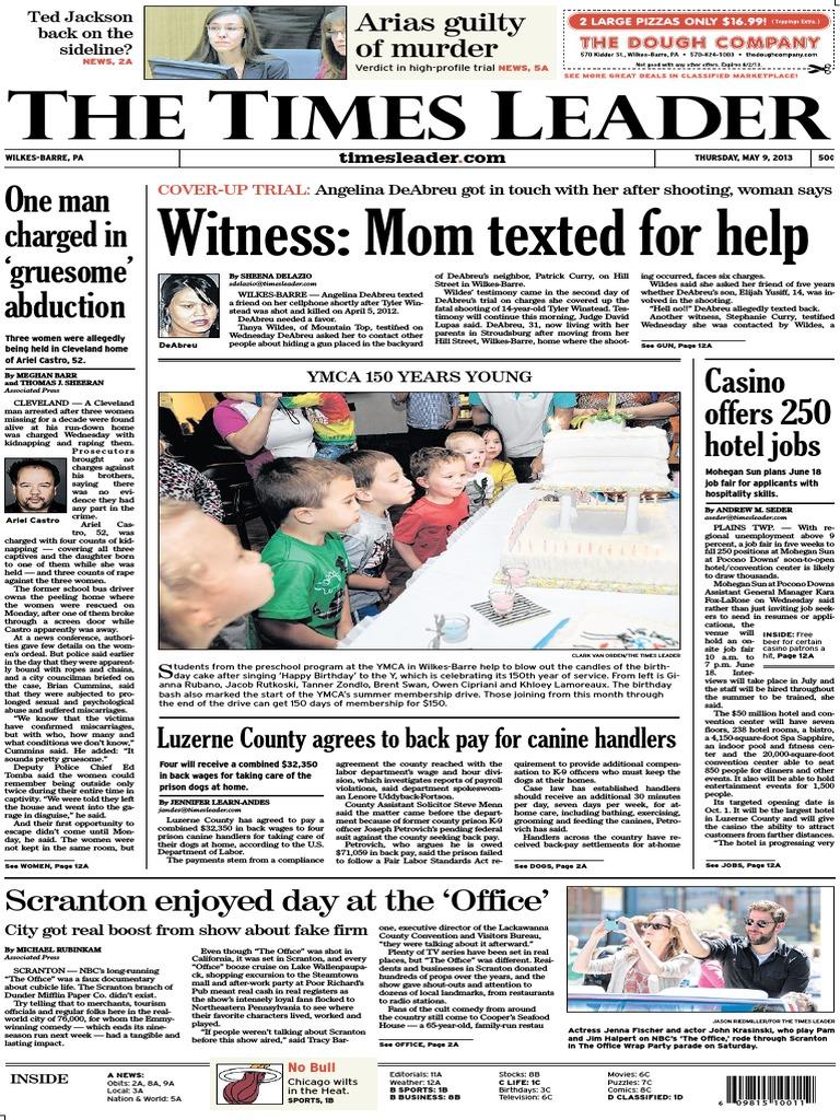 cca37798c Times Leader 05-09-2013