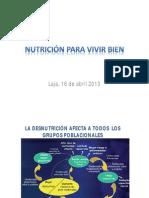 Nutrición para vivir bien
