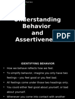Understanding Behavior & Assertiveness