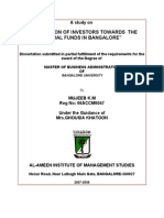 project report on finance investments