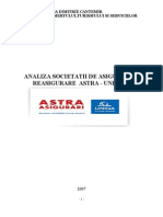 Analiza Societatii de Asigurare Reasigurare Astra - Uniqa