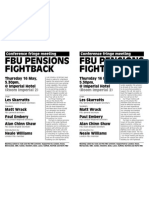 FBU Conference 2013 Pensions Fight Back Fringe Meeting