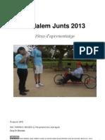 """Fitxa APS """"Pedalem Junts"""" 2012-13"""