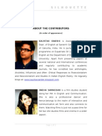 About the Contributors - Vol X-3