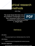 Biographical Research Methods