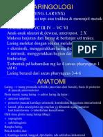 Laringology Dan Bronkoesofagologi